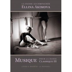 Book, Music Sheets for Ballet Class, La Danse Accompagnée volume III, by E. Akimova