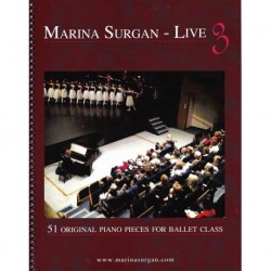 Piano Sheet Book - Marina Surgan Live 3